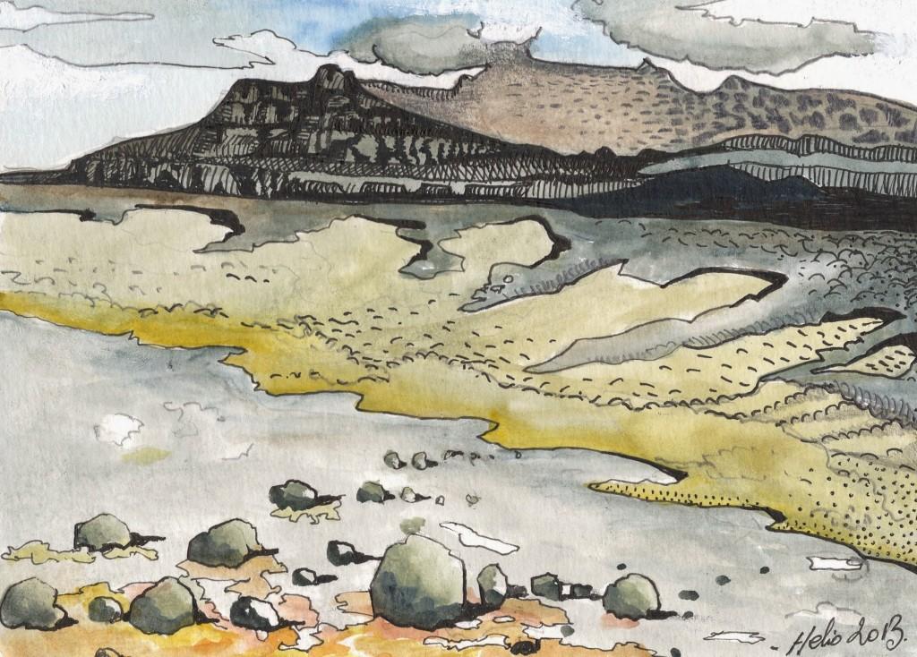 La grande coulée par le mont des cratères - Mathieu Antonio Hélio RAPP